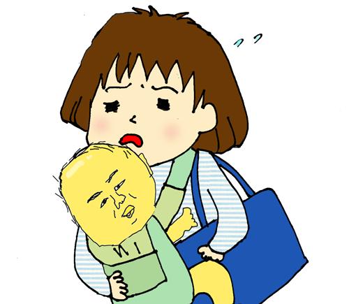 赤ちゃんの抱っこ